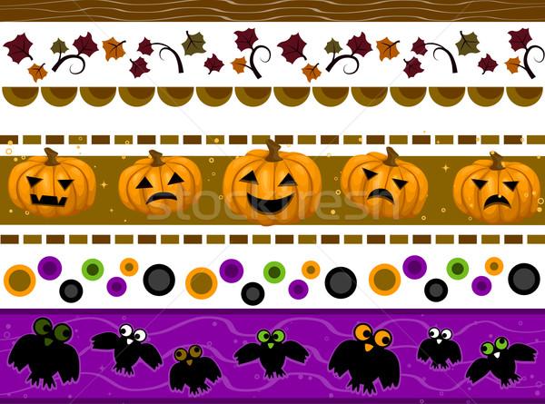 Halloween Borders Stock photo © lenm