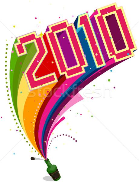 2010 regenboog parcours ontwerp kunst Stockfoto © lenm