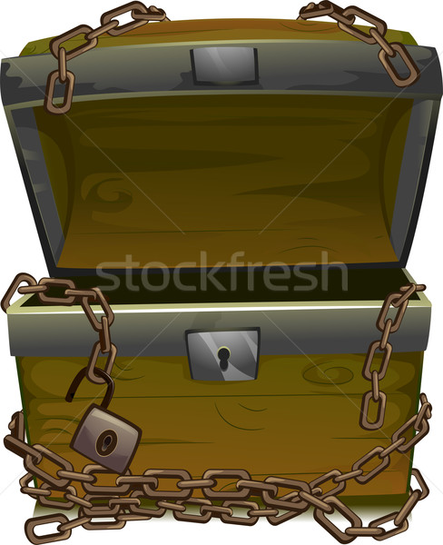 Pirate Treasure Chest Stock photo © lenm