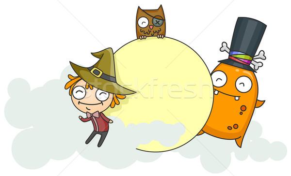 Halloween Board Stock photo © lenm