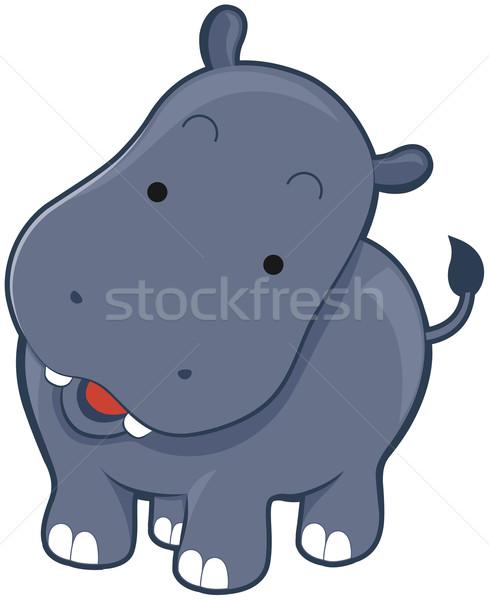 Sevimli suaygırı suaygırı hayvan karikatür Stok fotoğraf © lenm