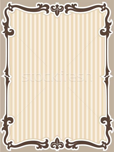 Frame stencil illustratie klaar ontwerp achtergrond Stockfoto © lenm
