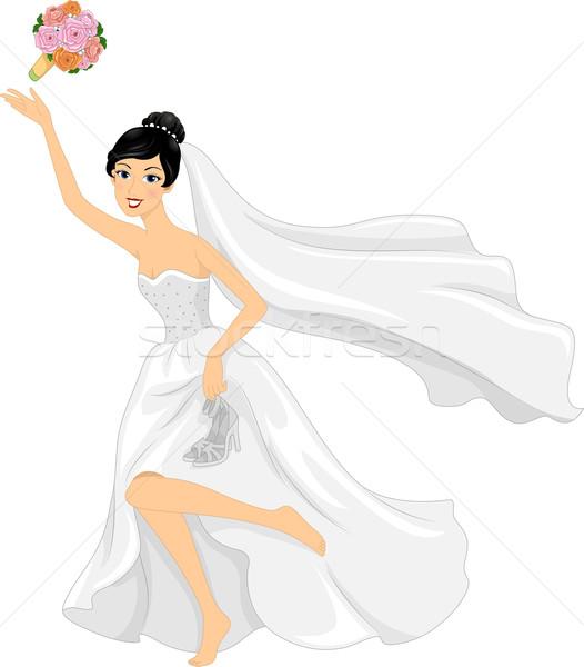Running Bride Stock photo © lenm