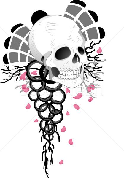 Skull Tattoo Design Stock photo © lenm