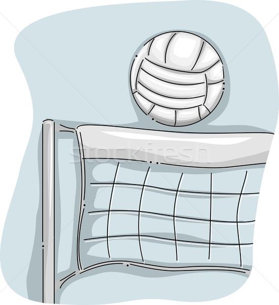 Voleibol com ilustração digital lazer isolado Foto stock © lenm