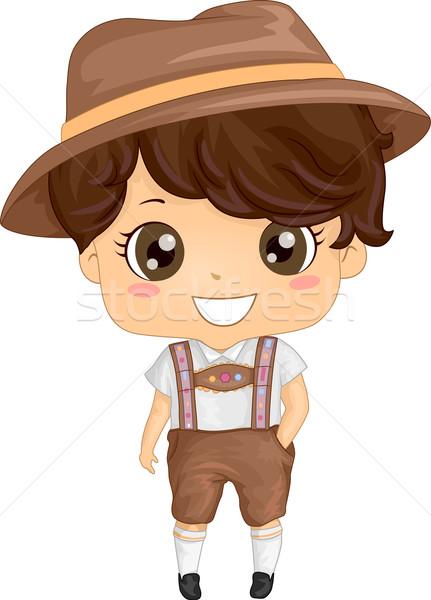 Kostuum jongen illustratie jonge digitale Stockfoto © lenm