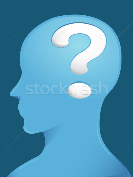 Profile Brain Question Stock photo © lenm
