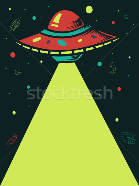 űrhajó nyaláb illusztráció lövöldözés lézer fény Stock fotó © lenm