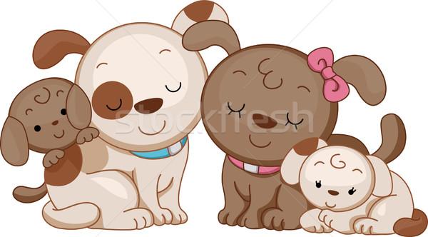 Dog Family Stock photo © lenm