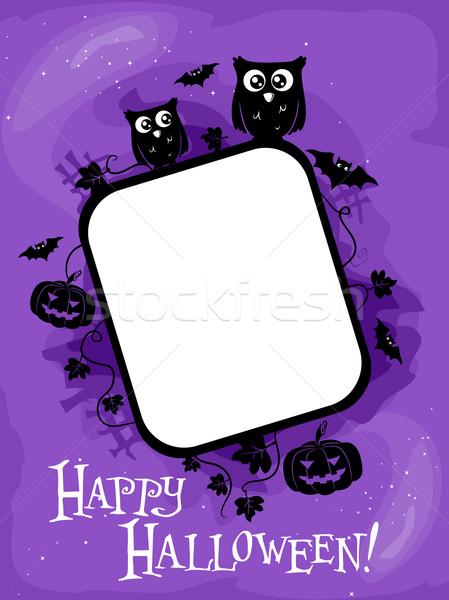 Stock photo: Halloween Frame