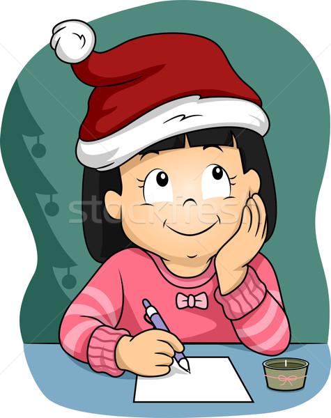 Рождества список иллюстрация девочку Сток-фото © lenm
