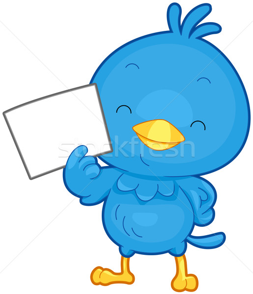 Stock photo: Bird Message
