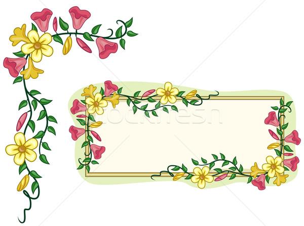 Stok fotoğraf: Bahçe · çerçeve · köşe · tahta · kapalı