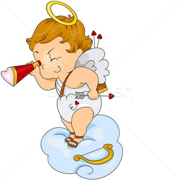 Snooping Cupid Stock photo © lenm