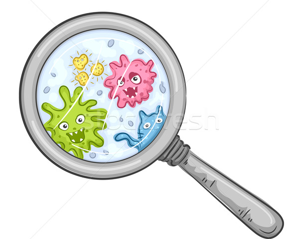 Magnifying Bacteria Stock photo © lenm