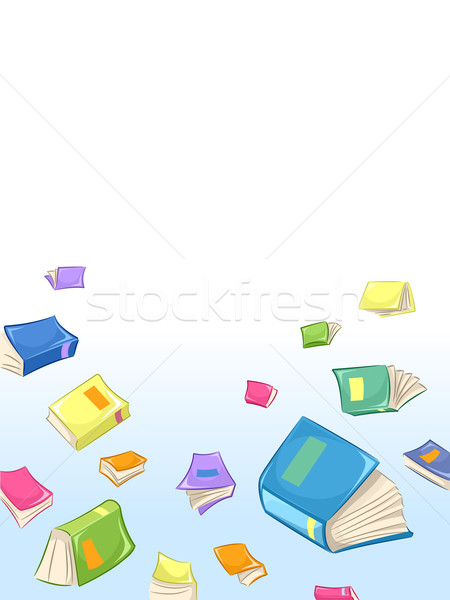 Book Clutter Stock photo © lenm