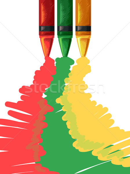 Crayons Spilling Colors Stock photo © lenm
