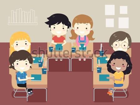 Escolas conselheiro ilustração trabalhar mulher homem Foto stock © lenm