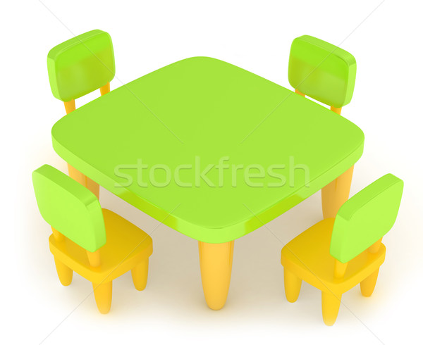 Kiddie Table Stock photo © lenm