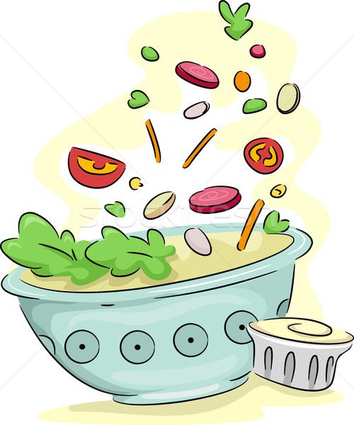 Vegetable Salad Stock photo © lenm