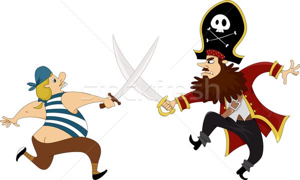 Pirates Swordfighting  Stock photo © lenm