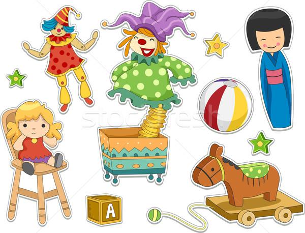 Toys Sticker Design Stock photo © lenm