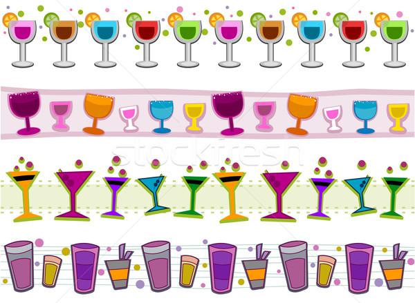 Cocktails Borders Stock photo © lenm