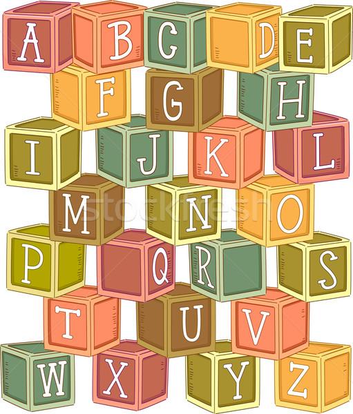 Wooden Blocks Alphabet Stock photo © lenm