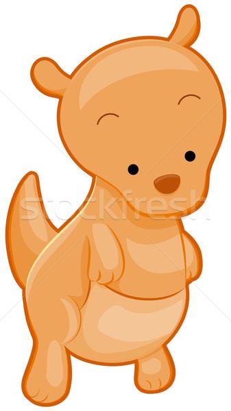 Cute кенгуру животного Cartoon изолированный Сток-фото © lenm