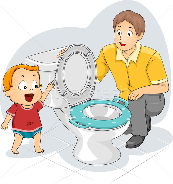 Toddler Flush Stock photo © lenm