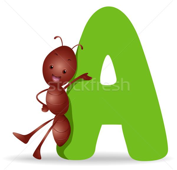 Formiga desenho animado bonitinho vetor clip-art Foto stock © lenm