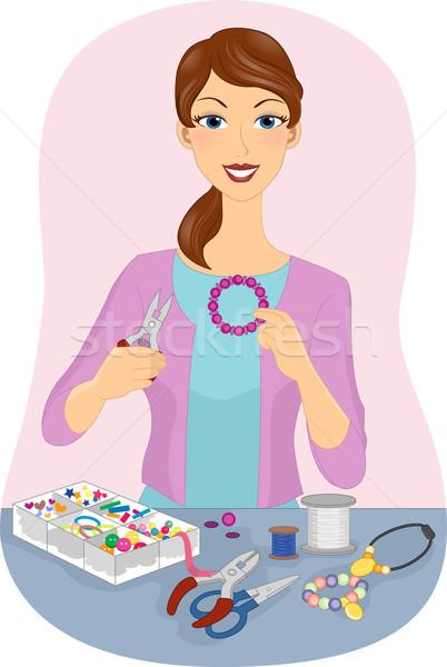Jewelry Making Stock photo © lenm