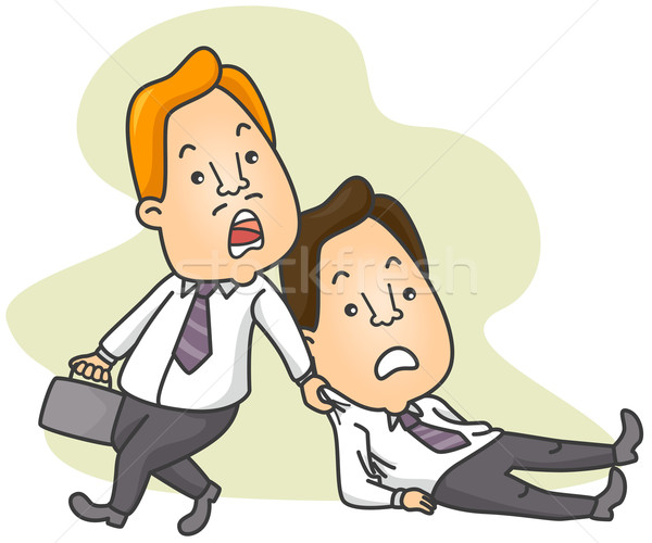 Man Dragging Colleague to Work Stock photo © lenm