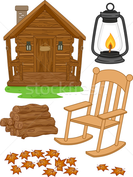 Cabin Design Elements Stock photo © lenm