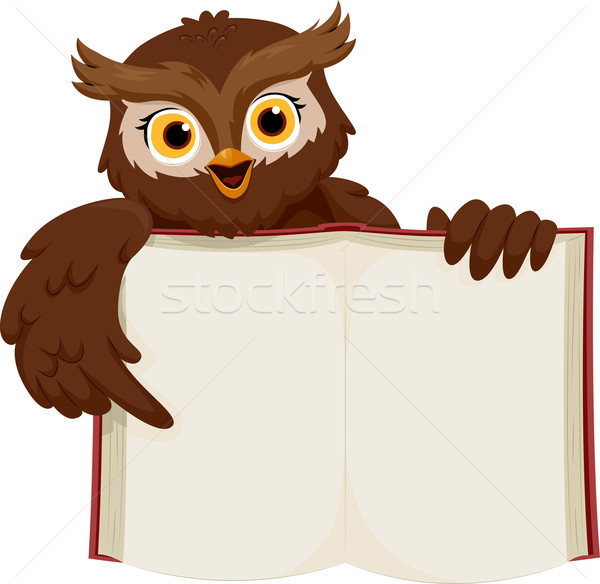 Owl Open Book Stock photo © lenm