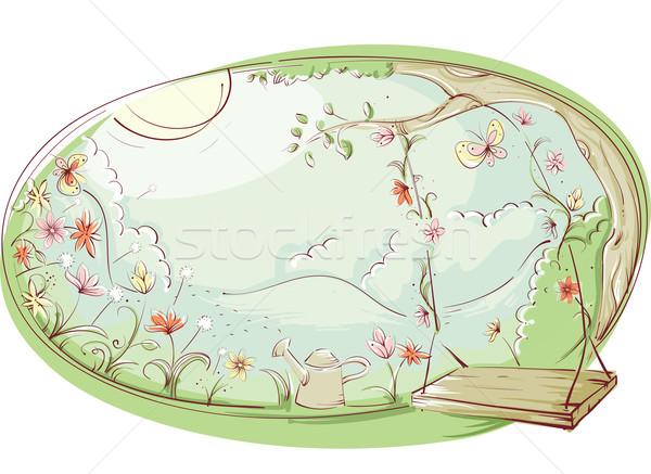 Сток-фото: цветочный · Swing · дизайна · иллюстрация · саду