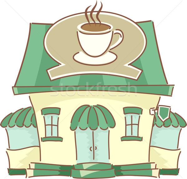 Coffee Shop Facade Stock photo © lenm