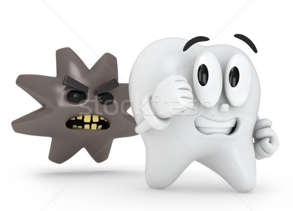 работает зубов 3d иллюстрации далеко 3D иллюстрация Сток-фото © lenm