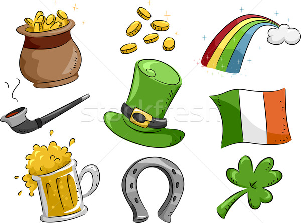 Saint Patrick's Day Icons Stock photo © lenm