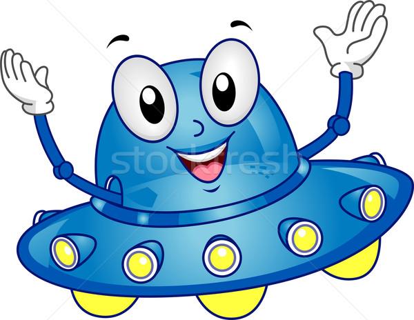 Astronave mascota ilustración ola máquina Foto stock © lenm