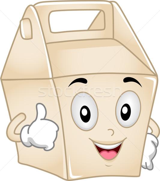 Takeout Box Mascot Stock photo © lenm