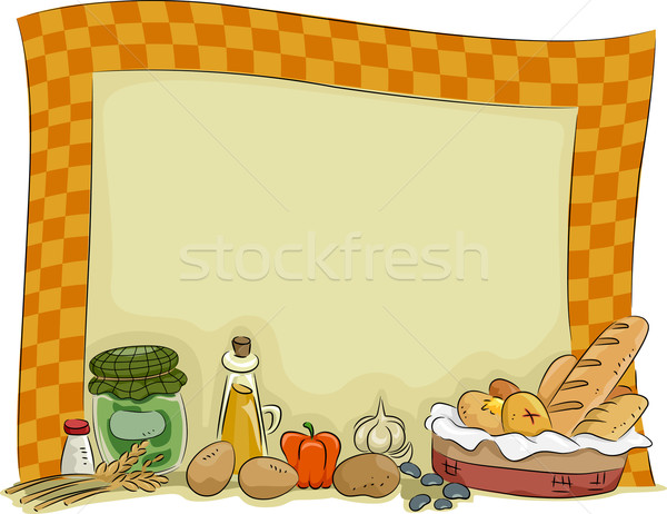 Country Style Kitchen Board Background Stock photo © lenm