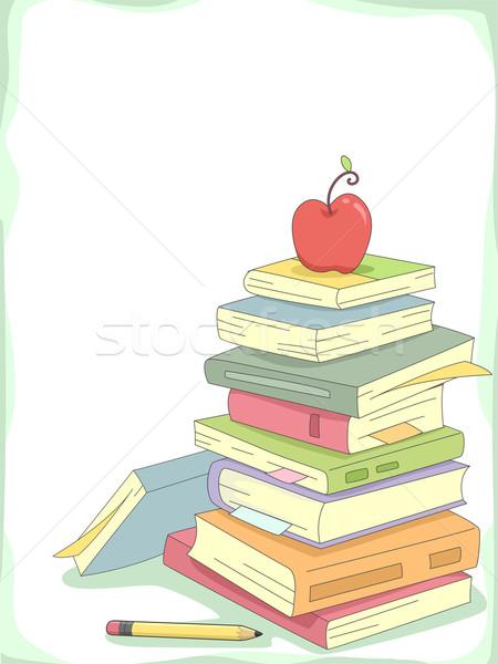 Books Background Stock photo © lenm