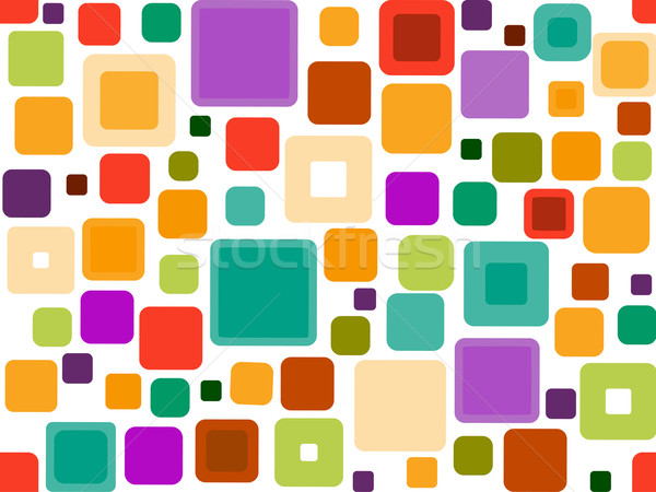 Seamless Funky Squares Stock photo © lenm