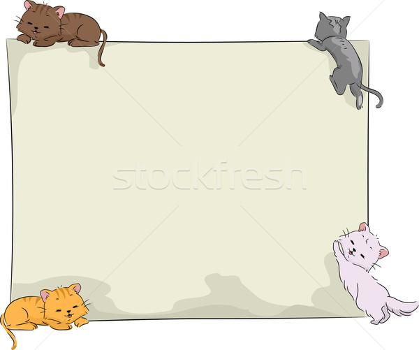 Cats Board Stock photo © lenm