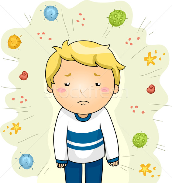 Boy Sick From Viruses Stock photo © lenm
