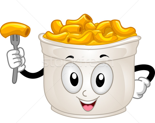 Mascot Mac and Cheese Stock photo © lenm