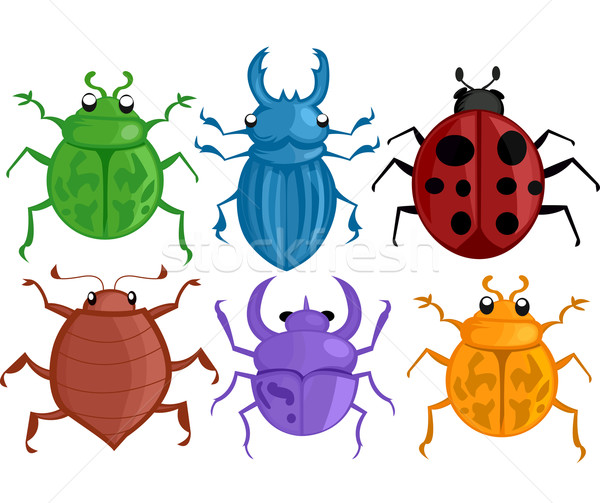 Colorat bug-uri ilustrare diferit specie animal Imagine de stoc © lenm