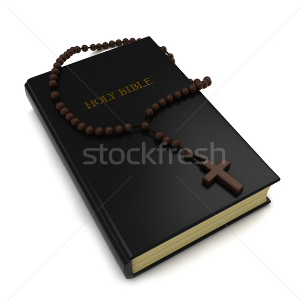 Bible chapelet 3d illustration cartoon 3D illustration Photo stock © lenm