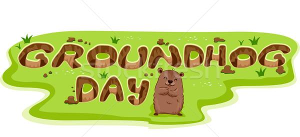 Groundhog Burrow Stock photo © lenm